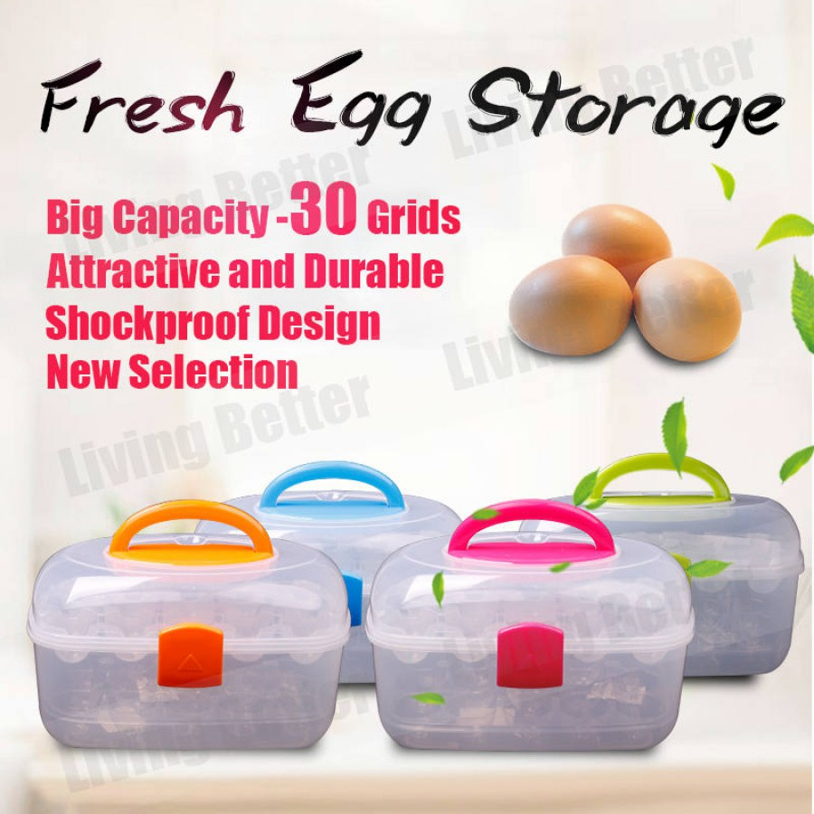 HOT SALE!!!  ***30 Grids***  Eggs Tray Storage Egg Holder