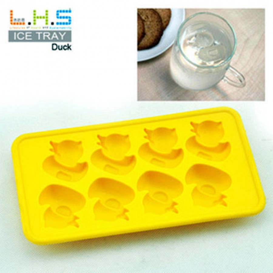 *** 8 x Grids Ice Cube Tray *** DUCK SHAPE
